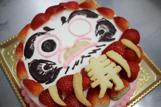 ダルマ型ケーキ
