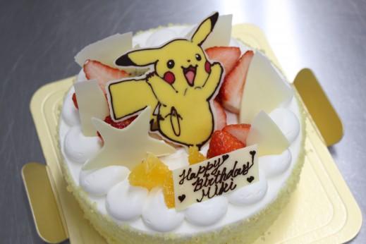 チョコプレートのデザインケーキ